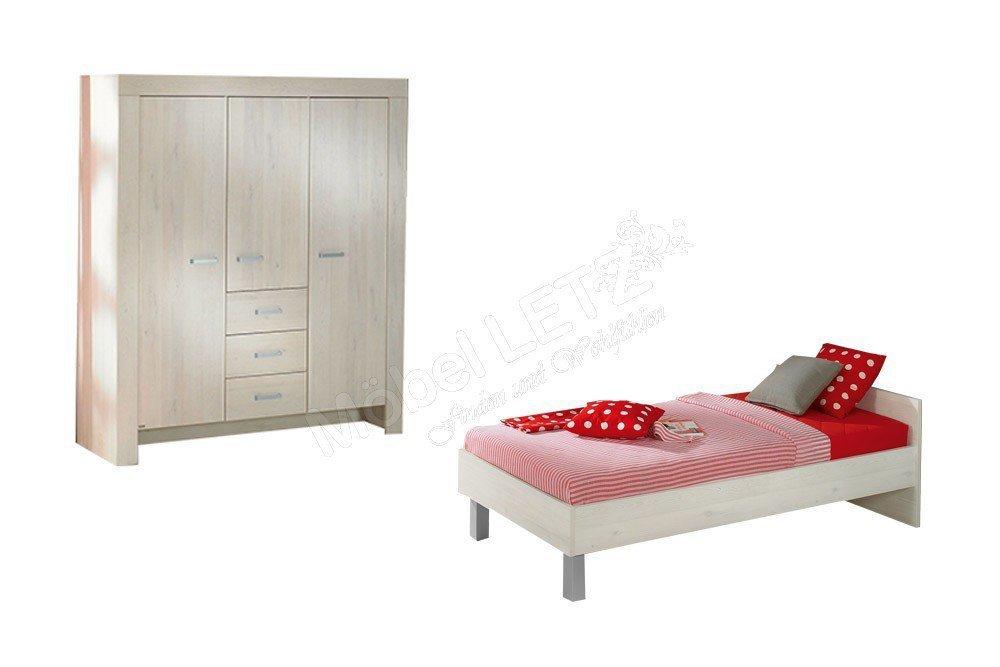jugendzimmer mees paidi scandic wood wei nachbildung m bel letz ihr online shop. Black Bedroom Furniture Sets. Home Design Ideas