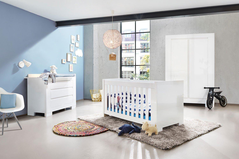 Babyzimmer möbel weiß  Pinolino Babyzimmer Sky Hochglanz weiß | Möbel Letz - Ihr Online-Shop