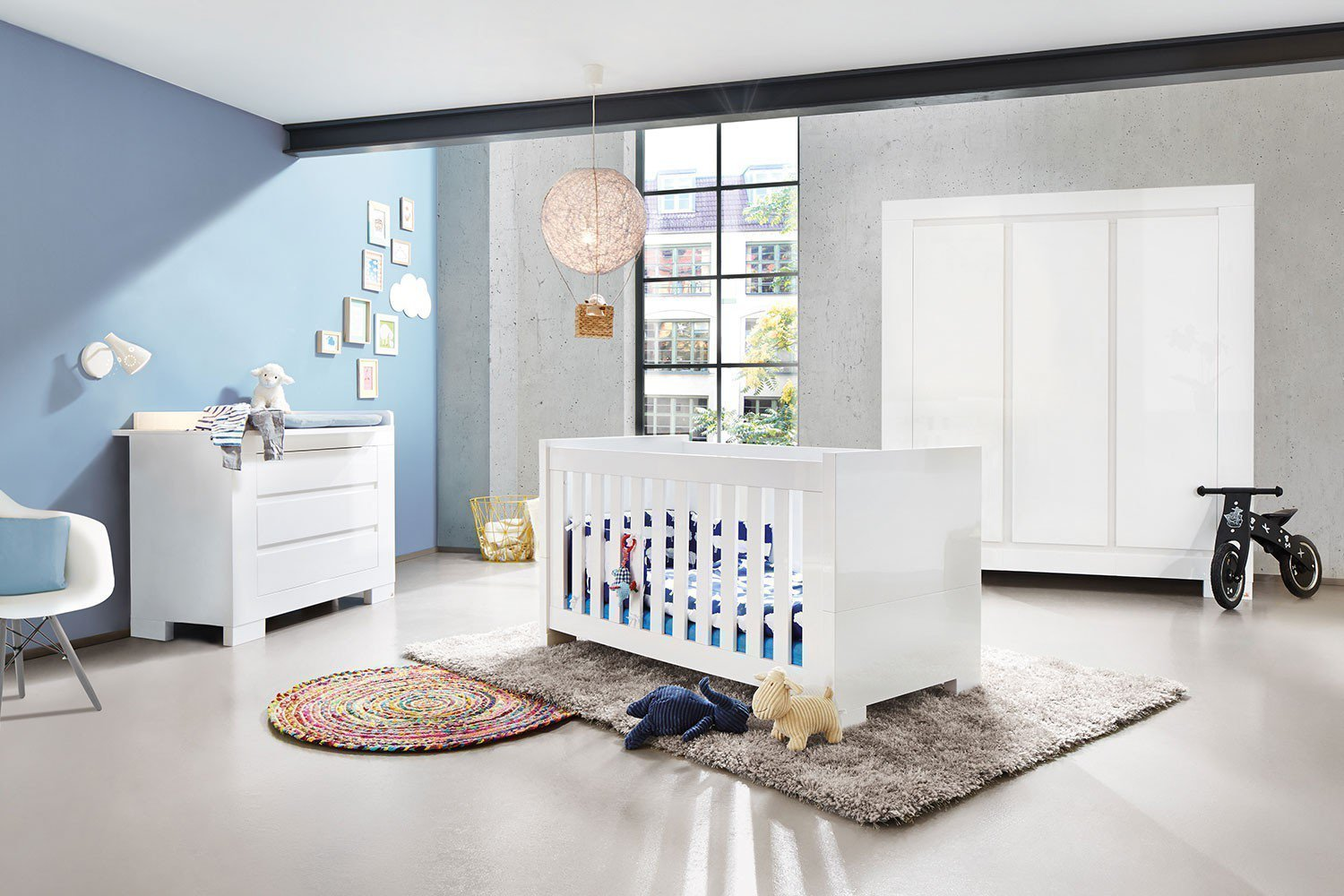 pinolino sky babyzimmer hochglanz wei m bel letz ihr. Black Bedroom Furniture Sets. Home Design Ideas