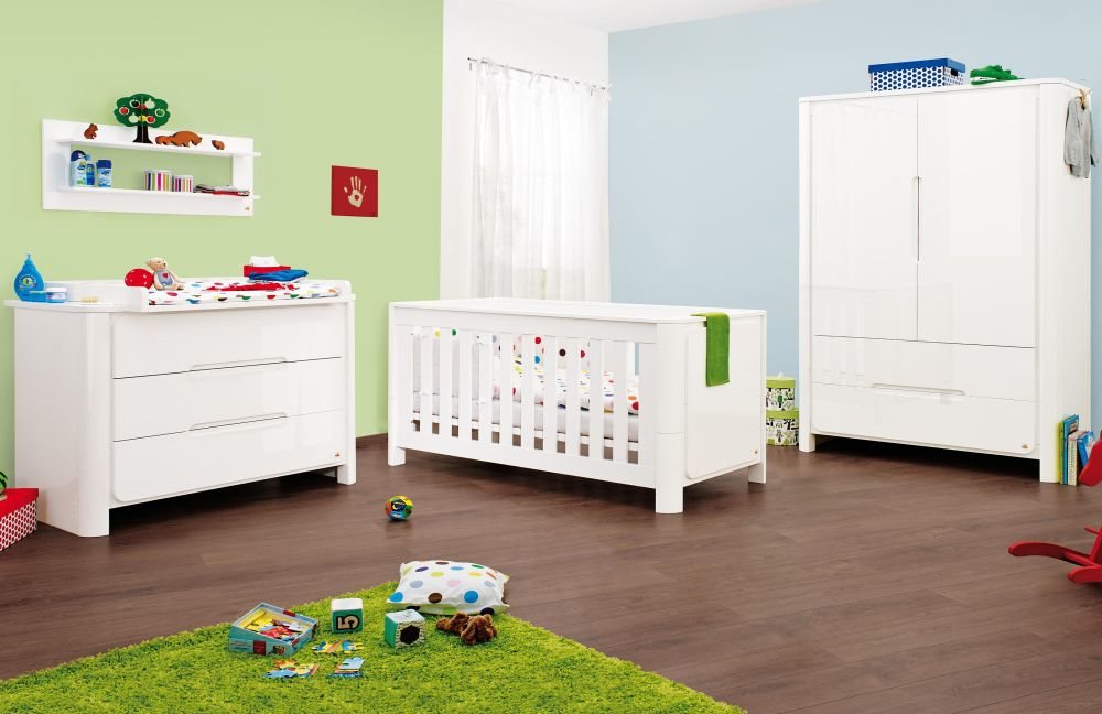 babyzimmer moon von pinolino in hochglanz wei m bel letz ihr online shop. Black Bedroom Furniture Sets. Home Design Ideas