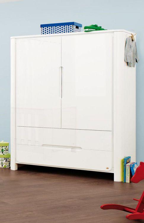 babyzimmer moon von pinolino in hochglanz wei m bel letz. Black Bedroom Furniture Sets. Home Design Ideas