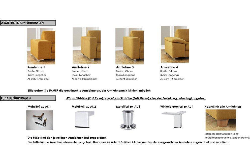 Candy Loreno Wohnlandschaft in Grau | Möbel Letz - Ihr Online-Shop.