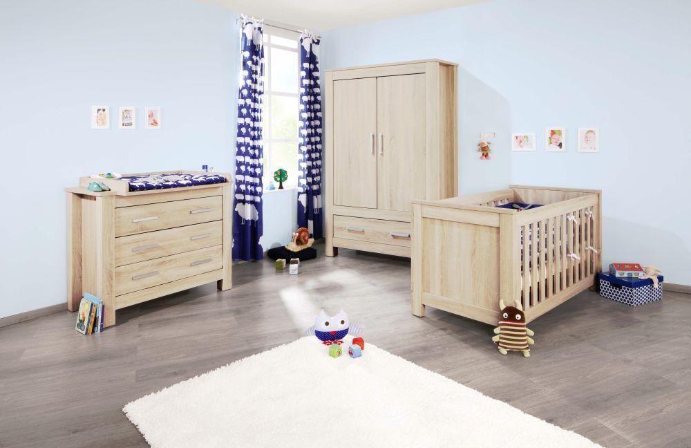 Babyzimmer möbel natur  Pinolino Carus Babyzimmer Eiche-Struktur-Nachbildung | Möbel Letz ...