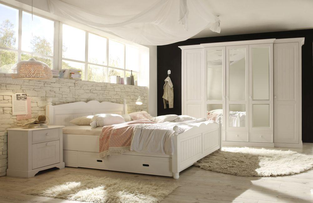 SchlafKONTOR Cinderella Schlafzimmer Kiefer weiß | Möbel Letz - Ihr ...