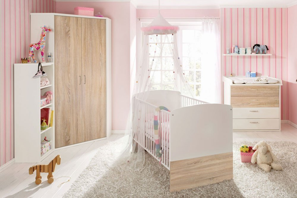 priess babyzimmer achat for kids wei sonoma eiche m bel letz ihr online shop. Black Bedroom Furniture Sets. Home Design Ideas