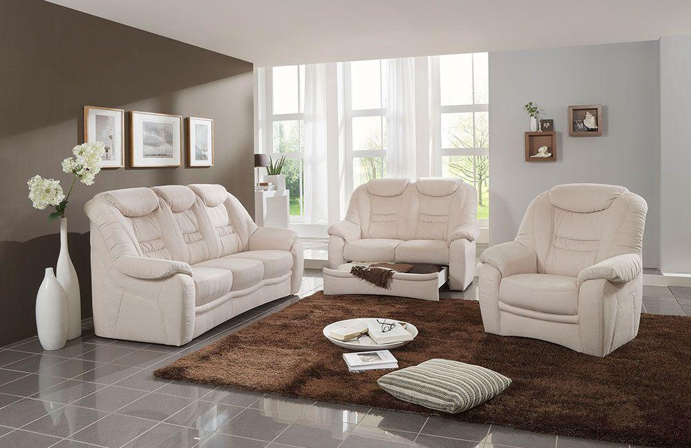 Polsteria Home Comfort Polstergarnitur Home Plan Creme Möbel Letz