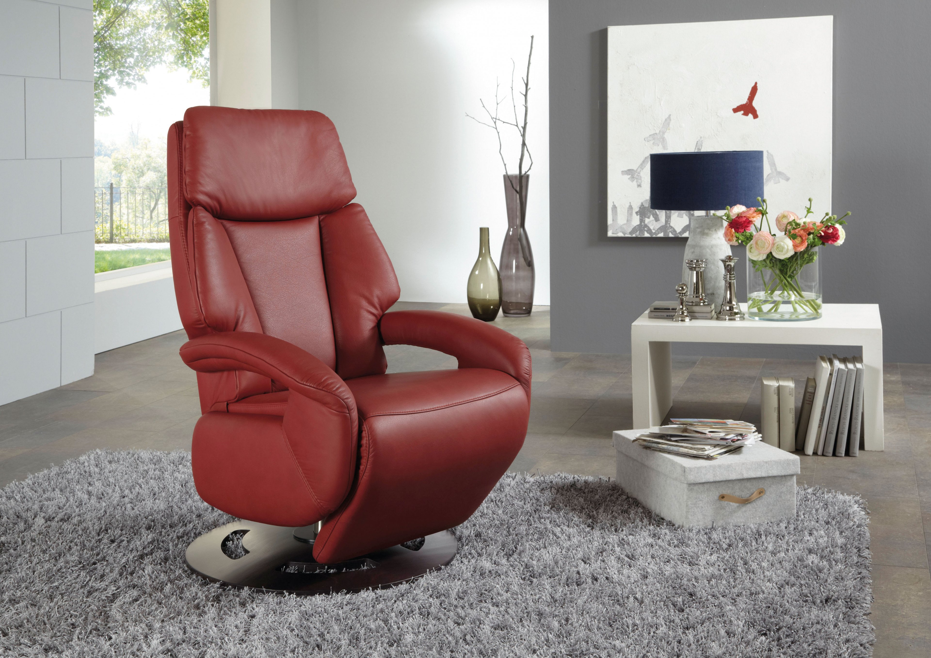 Relaxsessel Cocoon rot von Polsteria | Möbel Letz - Ihr Online-Shop
