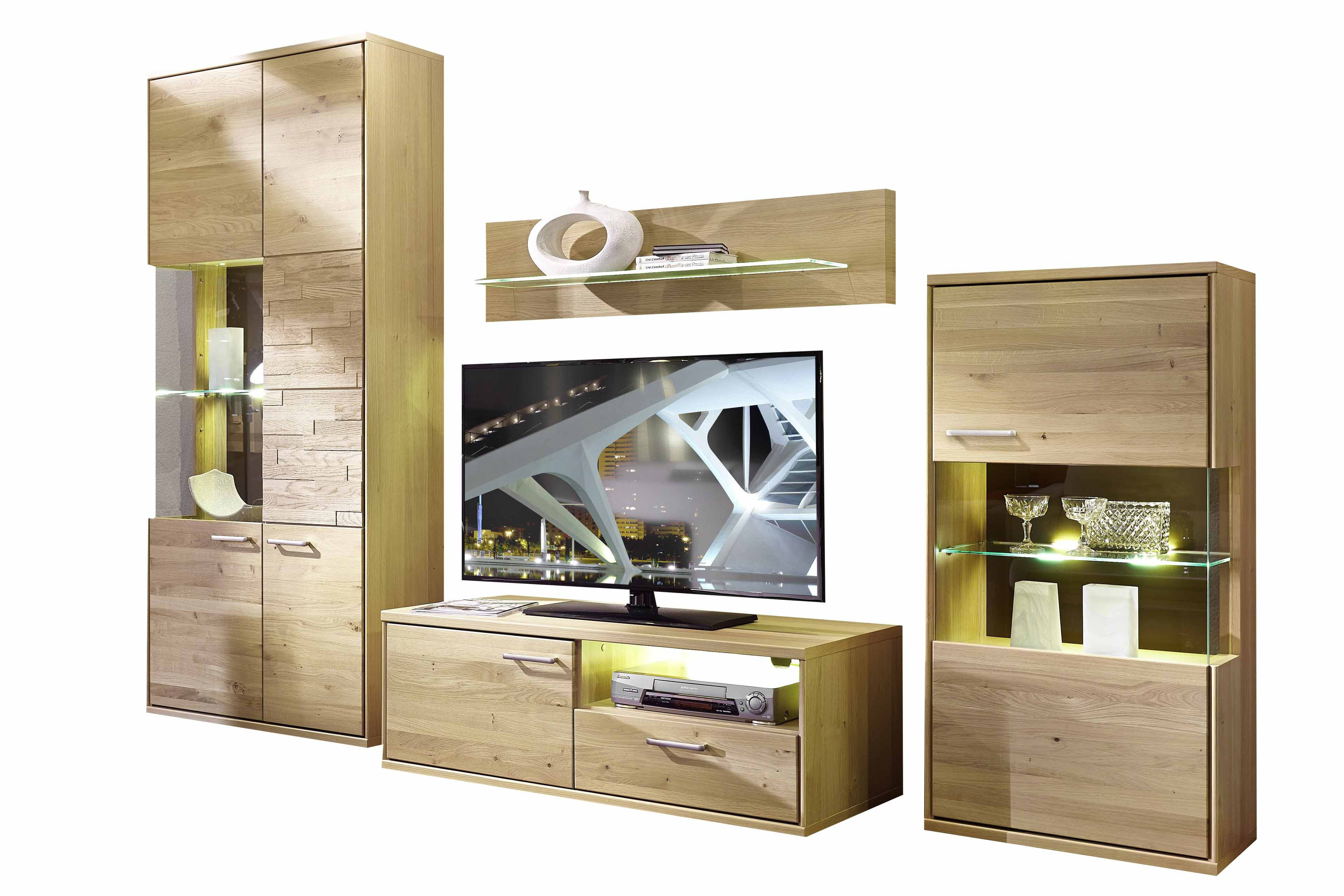 schr der m bel wohnwand natura v4 asteiche m bel letz ihr online shop. Black Bedroom Furniture Sets. Home Design Ideas