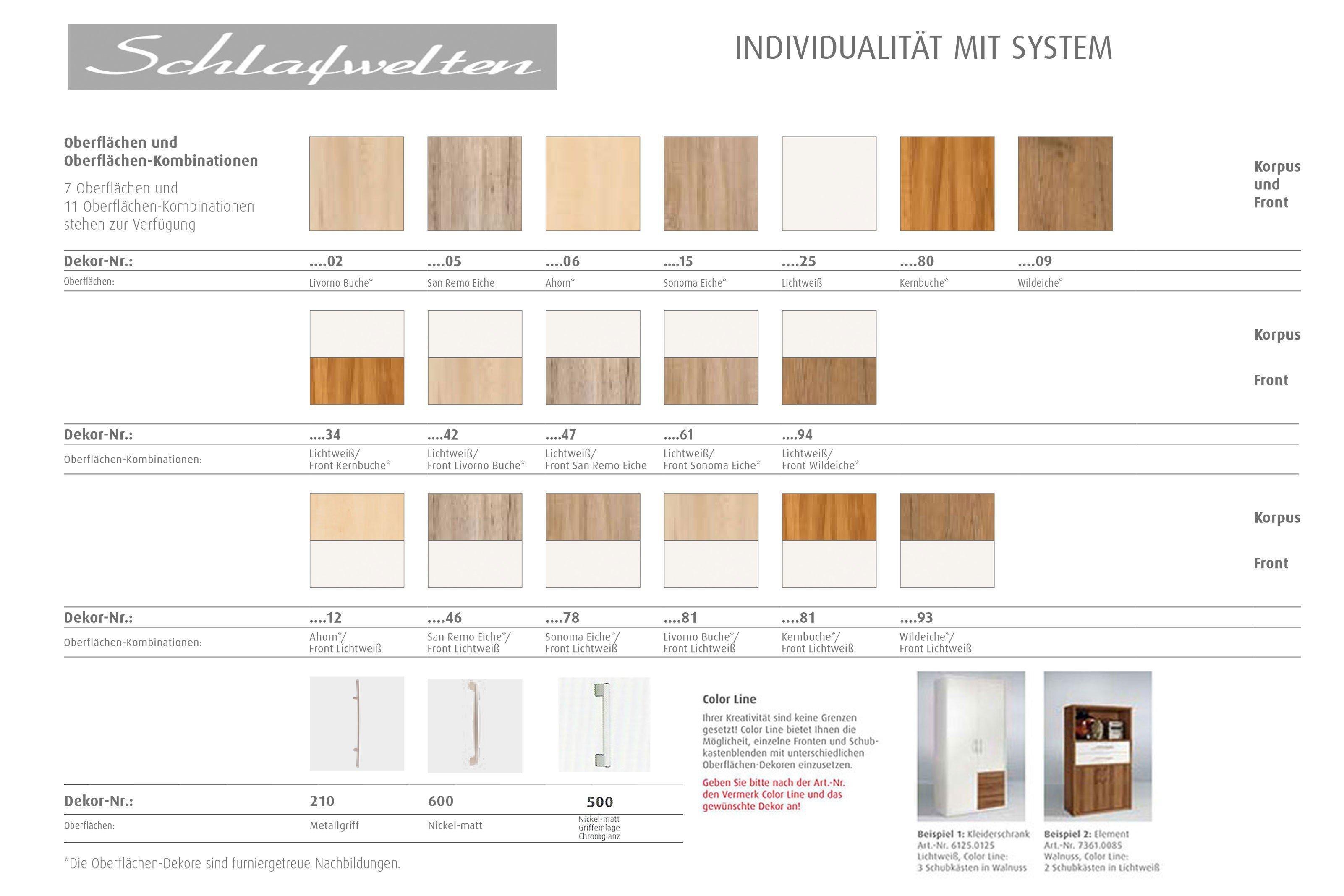 schlafzimmer von priess modell schlafwelten sonoma eiche mit 3. Black Bedroom Furniture Sets. Home Design Ideas