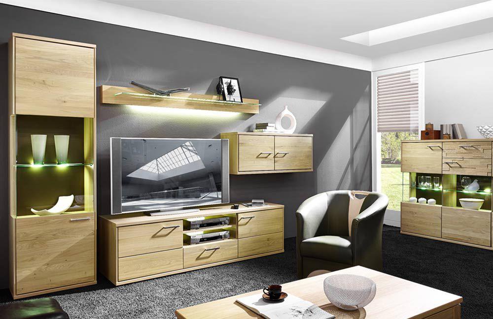 schr der m bel wohnwand natura v37 in asteiche m bel letz ihr online shop. Black Bedroom Furniture Sets. Home Design Ideas
