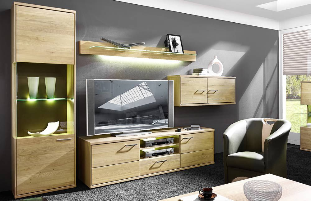 schr der m bel wohnwand natura v37 in asteiche m bel. Black Bedroom Furniture Sets. Home Design Ideas