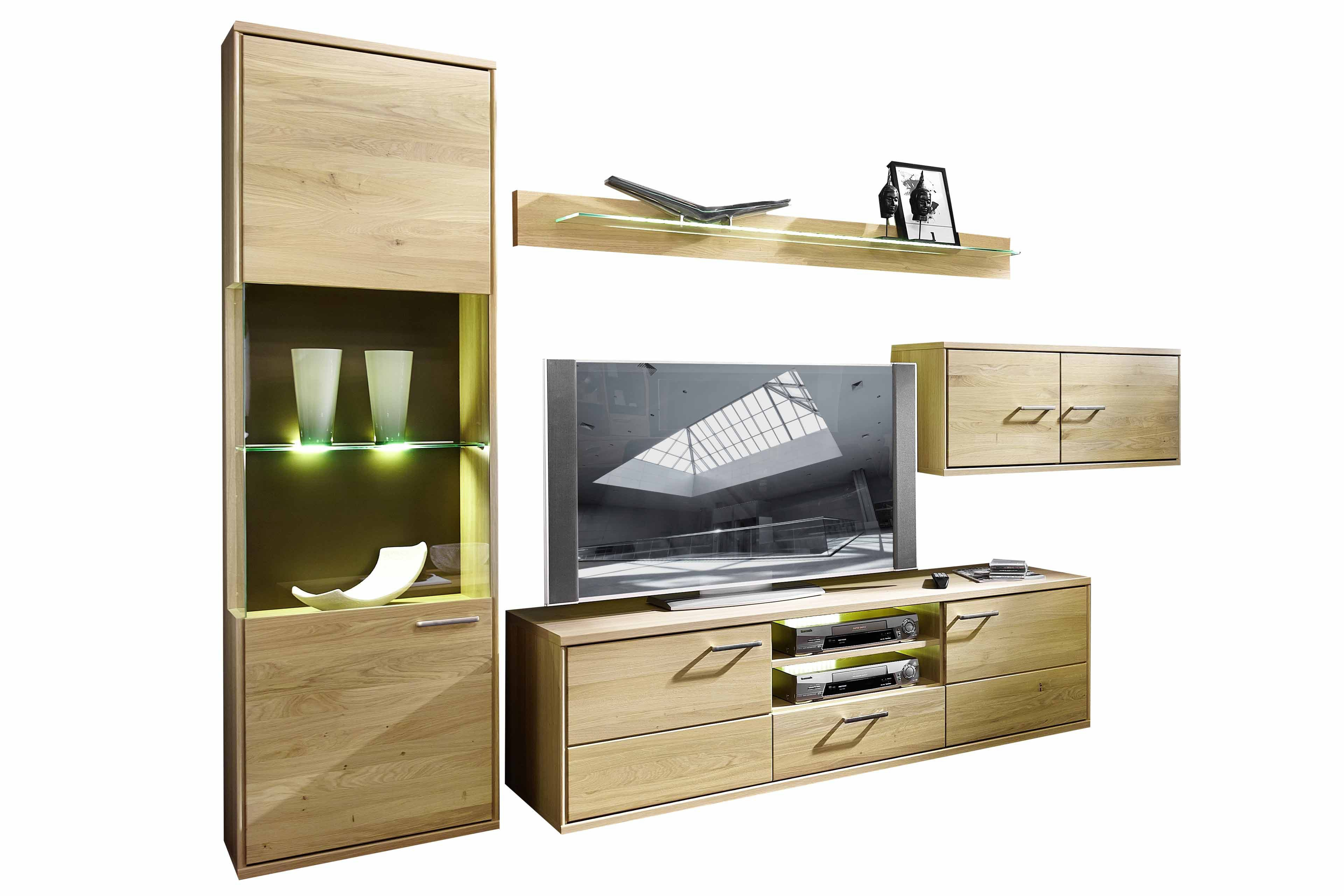 schr der m bel wohnwand natura v37 in asteiche m bel letz ihr online shop. Black Bedroom Furniture Sets. Home Design Ideas