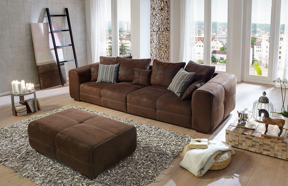 big sofa maverick in braun von sit more m bel letz