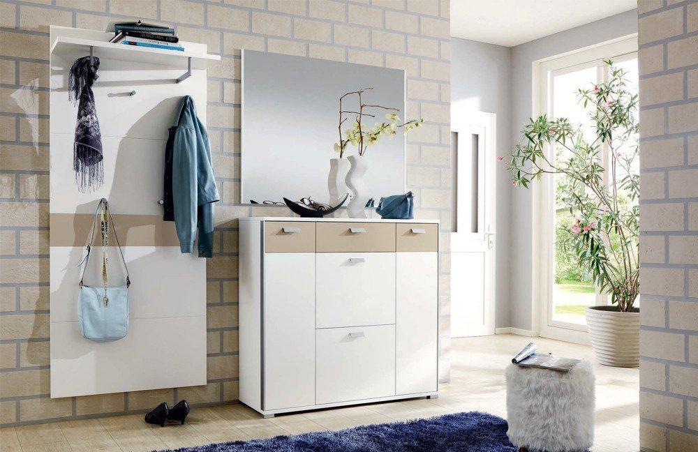 garderobe viola lack wei sand von voss m bel m bel. Black Bedroom Furniture Sets. Home Design Ideas