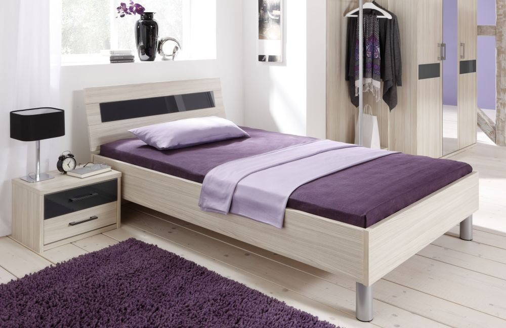 priess bett riva akazie glasauflage anthrazit m bel letz ihr online shop. Black Bedroom Furniture Sets. Home Design Ideas
