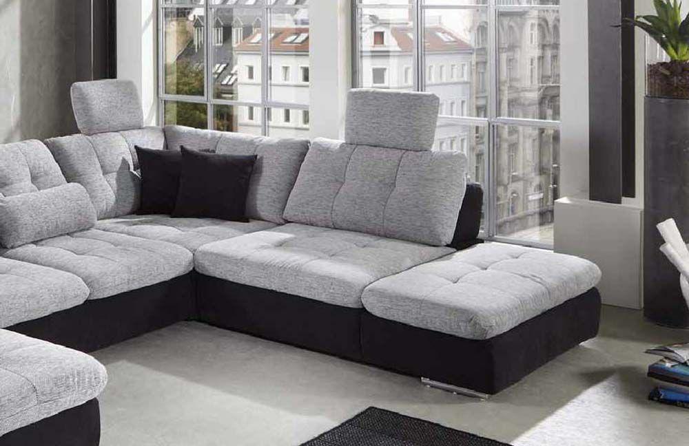 megapol power pleasure wohnlandschaft wei anthrazit m bel letz ihr online shop. Black Bedroom Furniture Sets. Home Design Ideas