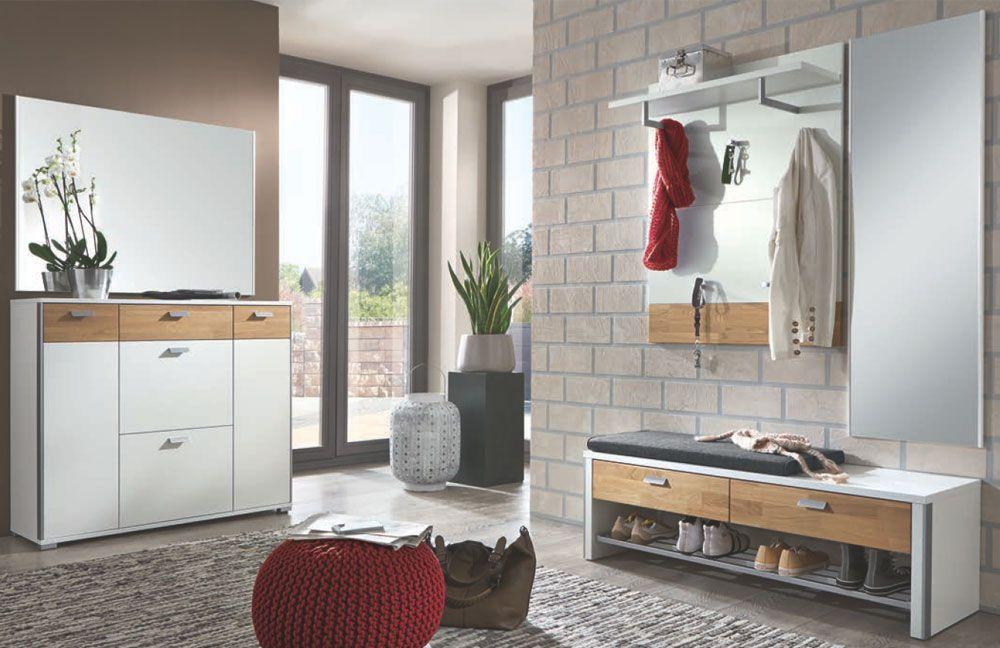 garderobe viola lack wei eiche massiv von voss m bel m bel letz ihr online shop. Black Bedroom Furniture Sets. Home Design Ideas