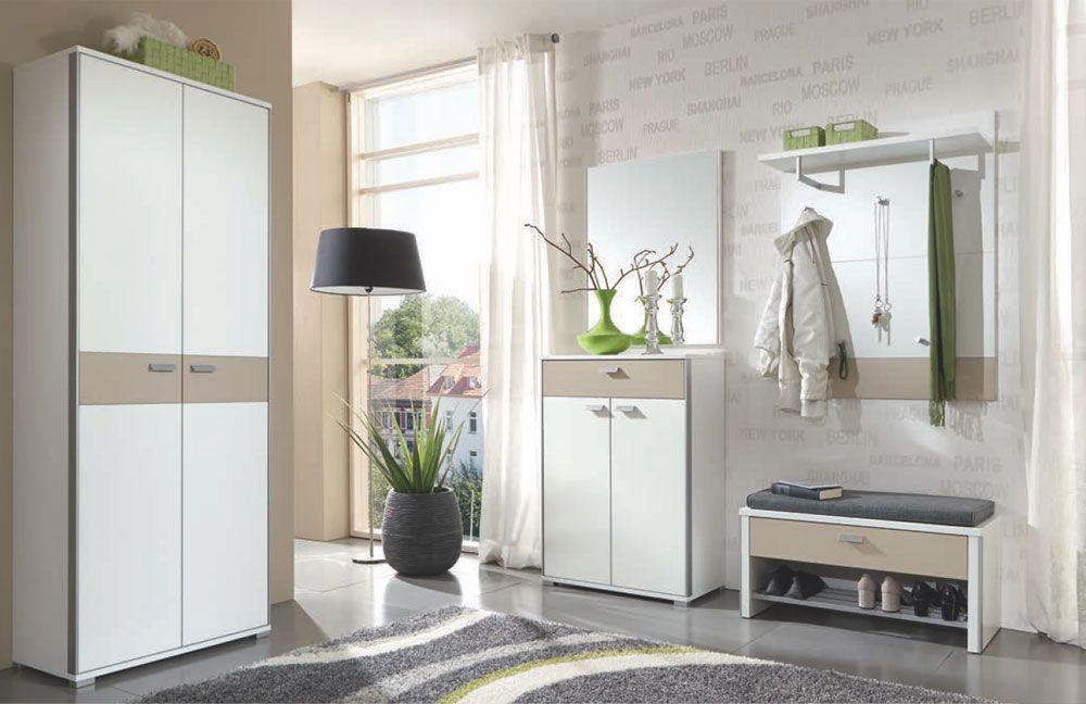 garderobe viola lack wei absetzung sand von voss m bel. Black Bedroom Furniture Sets. Home Design Ideas