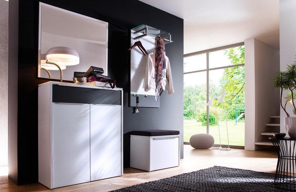 Wittenbreder Garderobe Multi-Color Gloss schwarz-weiß | Möbel Letz ...