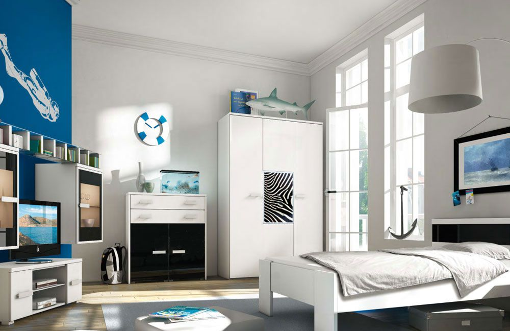 jugendzimmer mit fotomotiv zebra von r hr bush m bel letz. Black Bedroom Furniture Sets. Home Design Ideas
