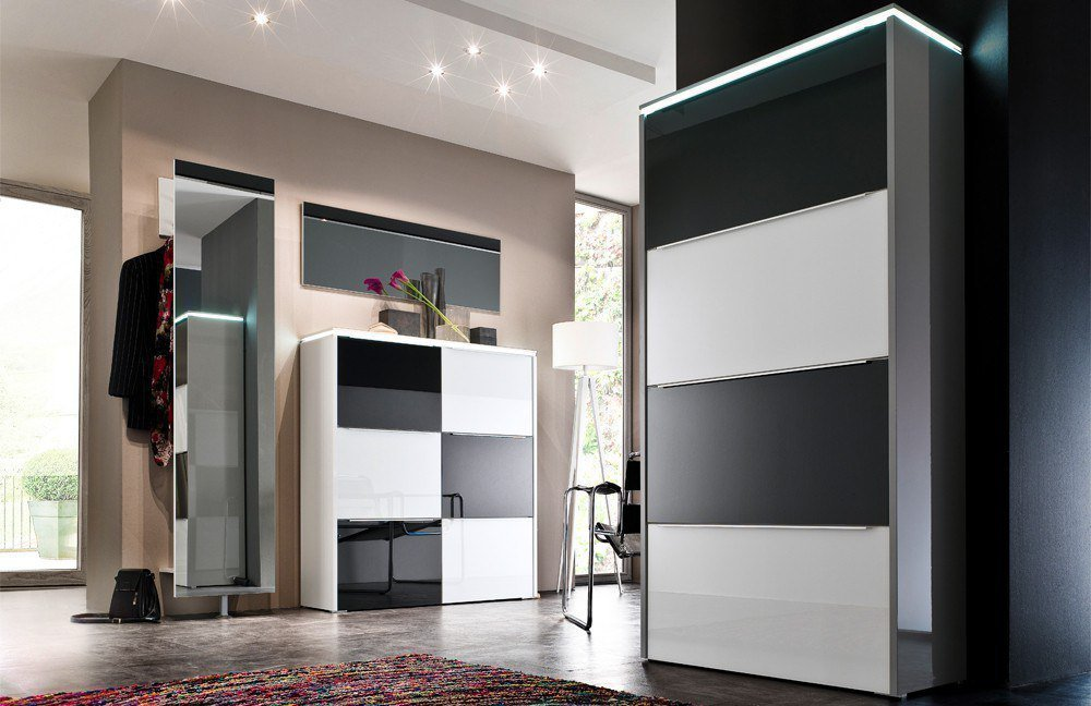 wittenbreder garderobe multi color gloss schwarz wei m bel letz ihr online shop. Black Bedroom Furniture Sets. Home Design Ideas