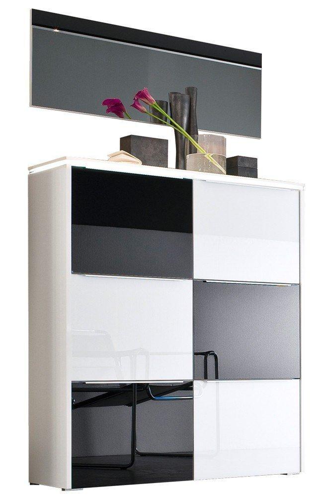 wittenbreder garderobe multi color gloss schwarz wei m bel letz ihr online shop. Black Bedroom Furniture Sets. Home Design Ideas