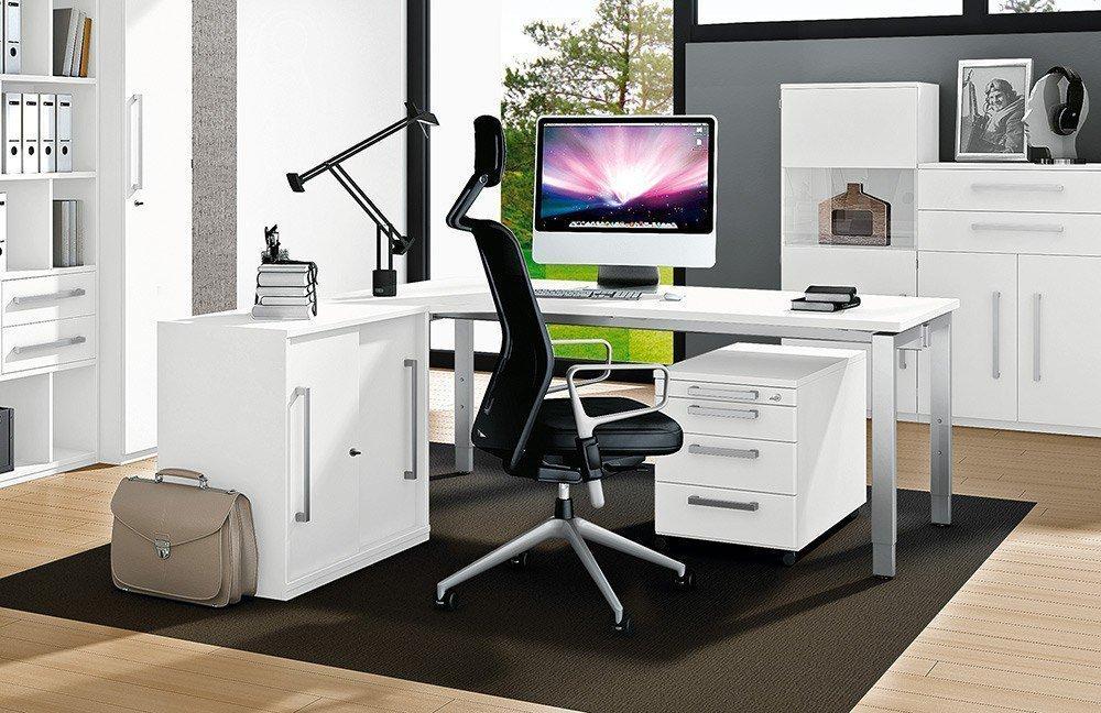 Komplettes arbeitszimmer b rom bel komplett set modell for Schreibtisch quarzit