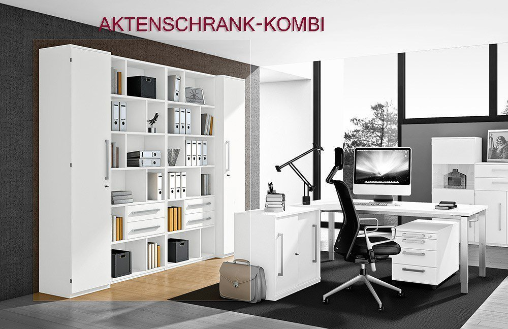 Röhr Techno Schreibtisch weiß   Möbel Letz - Ihr Online-Shop