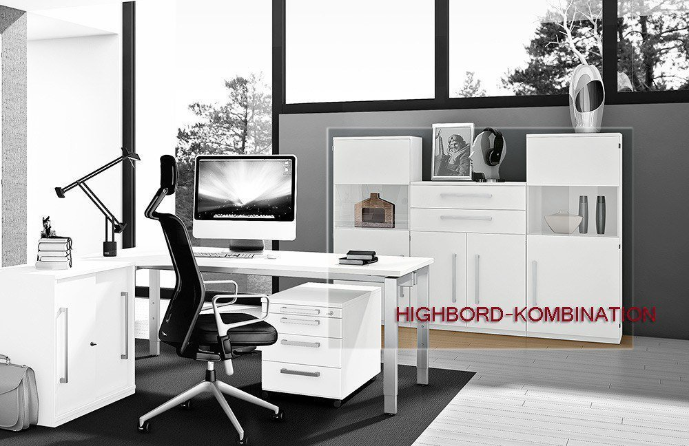 r hr techno schreibtisch wei m bel letz ihr online shop. Black Bedroom Furniture Sets. Home Design Ideas