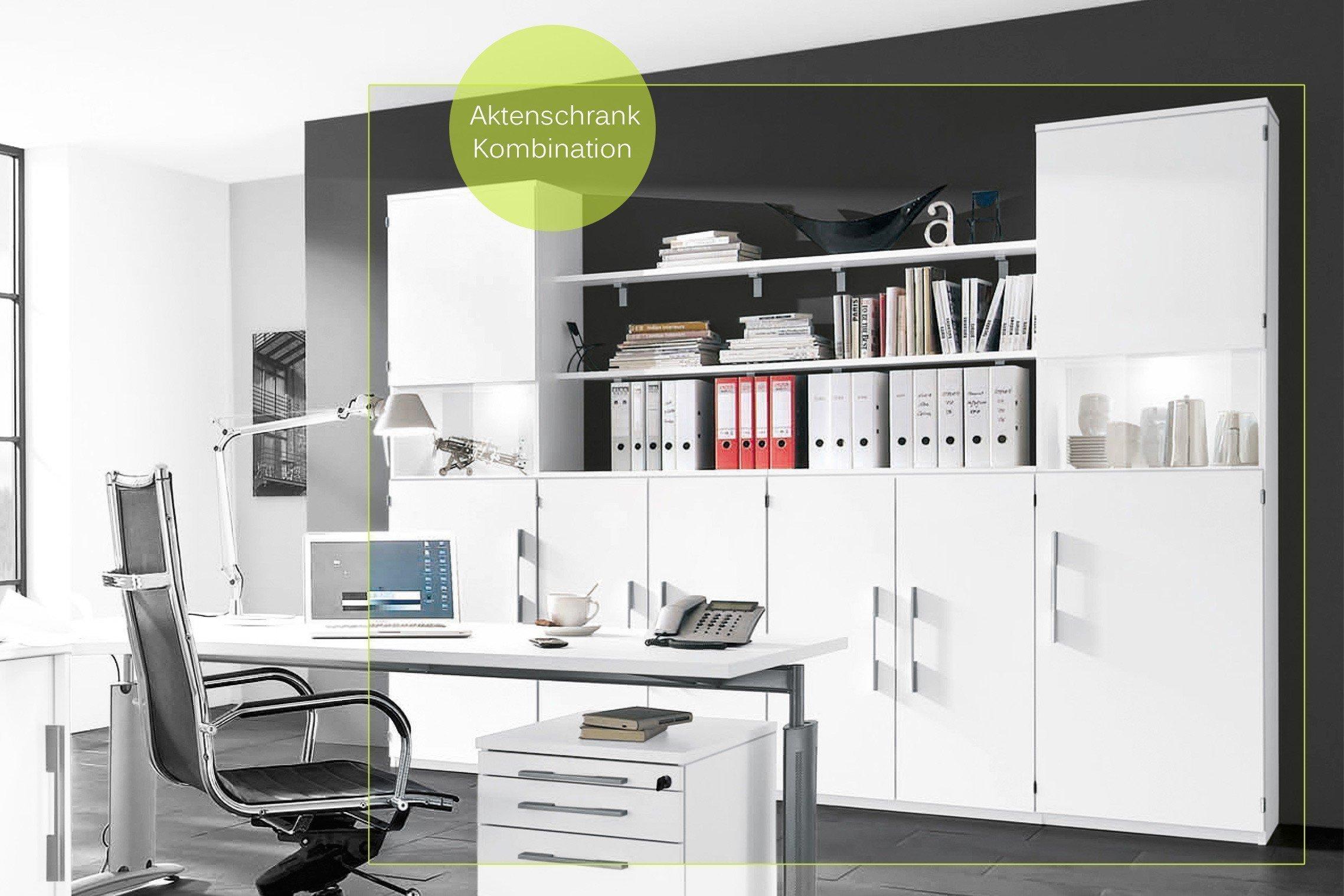 Röhr Techno Schreibtisch-Kombination weiß   Möbel Letz - Ihr Online-Shop