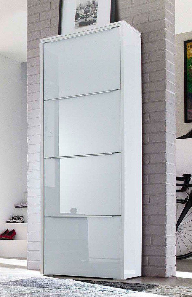 Wittenbreder garderobe multi color gloss wei e glasfront for Garderobe mit glasfront