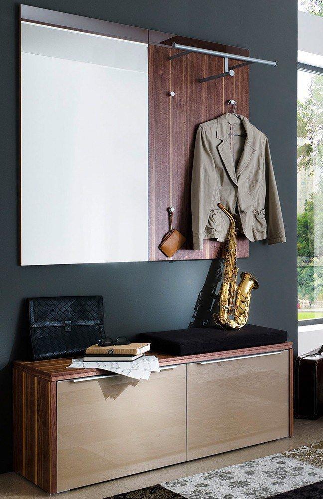 wittenbreder garderobe multi color gloss braun nussbaum m bel letz ihr online shop. Black Bedroom Furniture Sets. Home Design Ideas