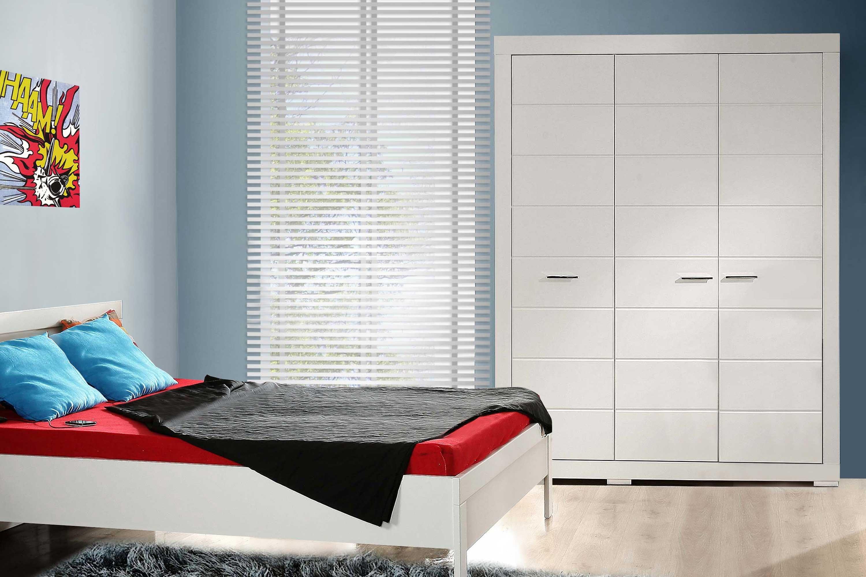 Snow Von Forte Jugendzimmer Schrank 3 Türig 90er Bett