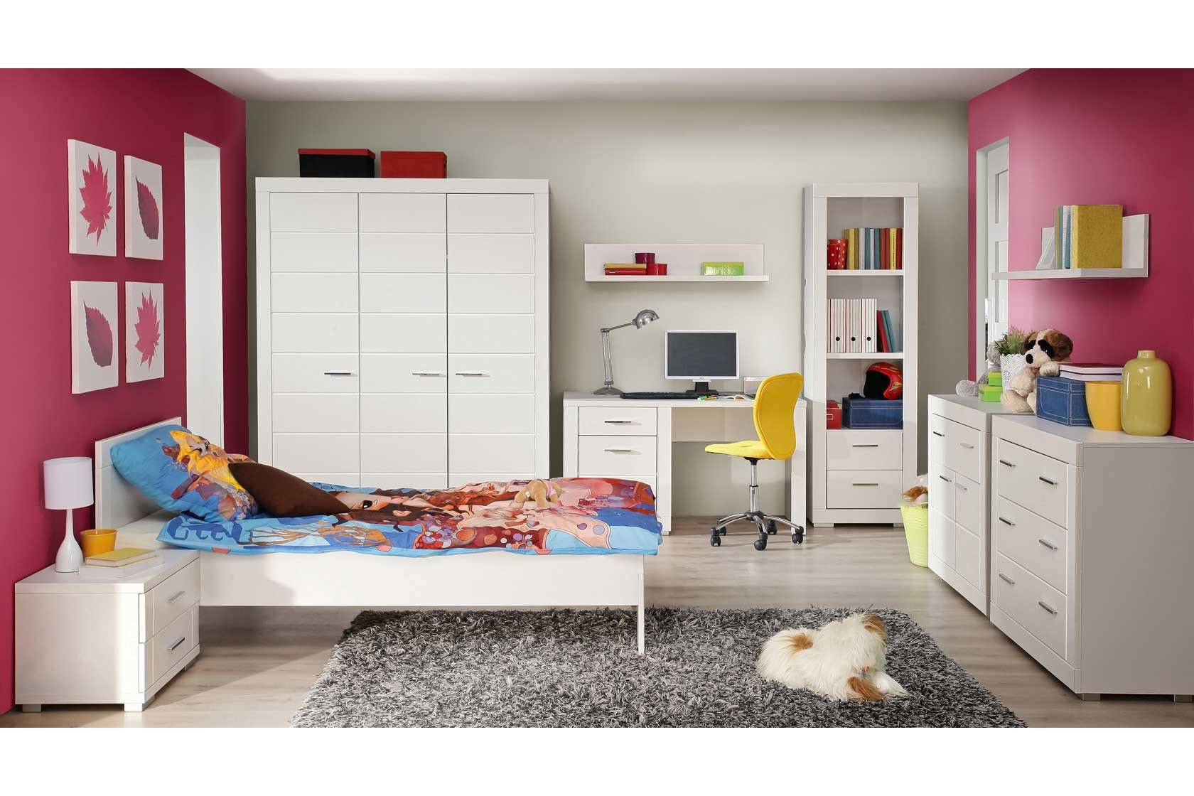 forte snow jugendzimmer 2 teilig matt wei m bel letz ihr online shop. Black Bedroom Furniture Sets. Home Design Ideas