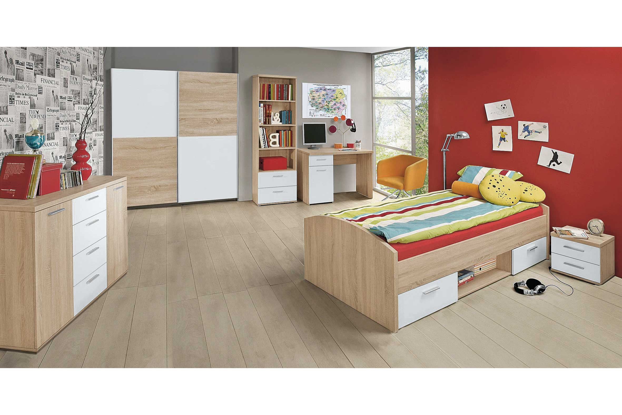 forte jugendzimmer winnie sonoma eiche wei m bel letz ihr online shop. Black Bedroom Furniture Sets. Home Design Ideas