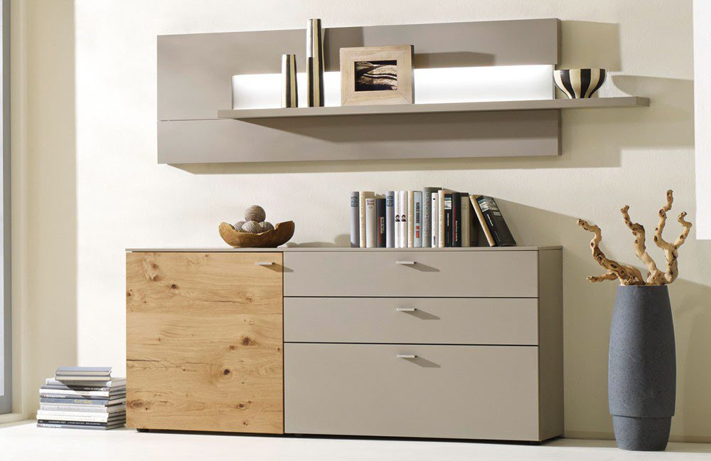 gwinner sideboard mit schiebeturen amped for. Black Bedroom Furniture Sets. Home Design Ideas