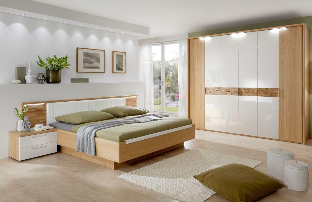 Schlafzimmer Cesan Hochglanz weiß von Disselkamp | Möbel Letz - Ihr ...