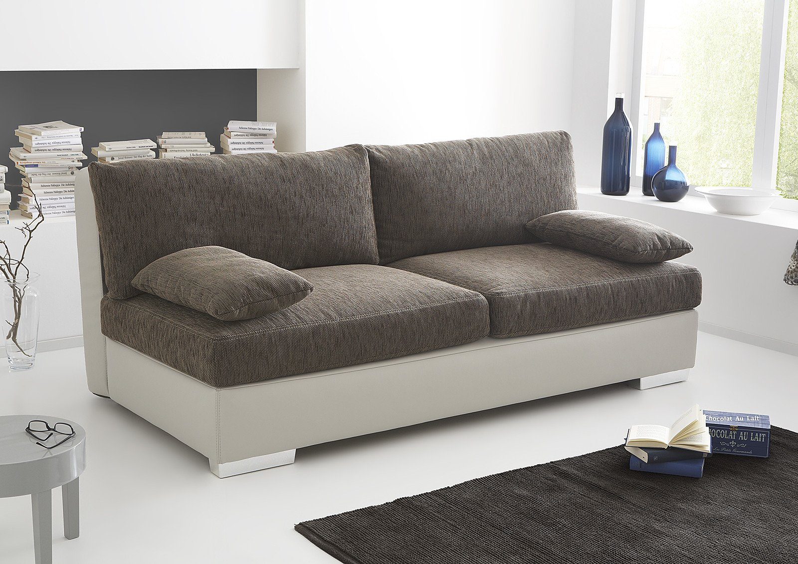 schlafsofa dorset in braun beige von jockenh fer m bel letz ihr online shop. Black Bedroom Furniture Sets. Home Design Ideas