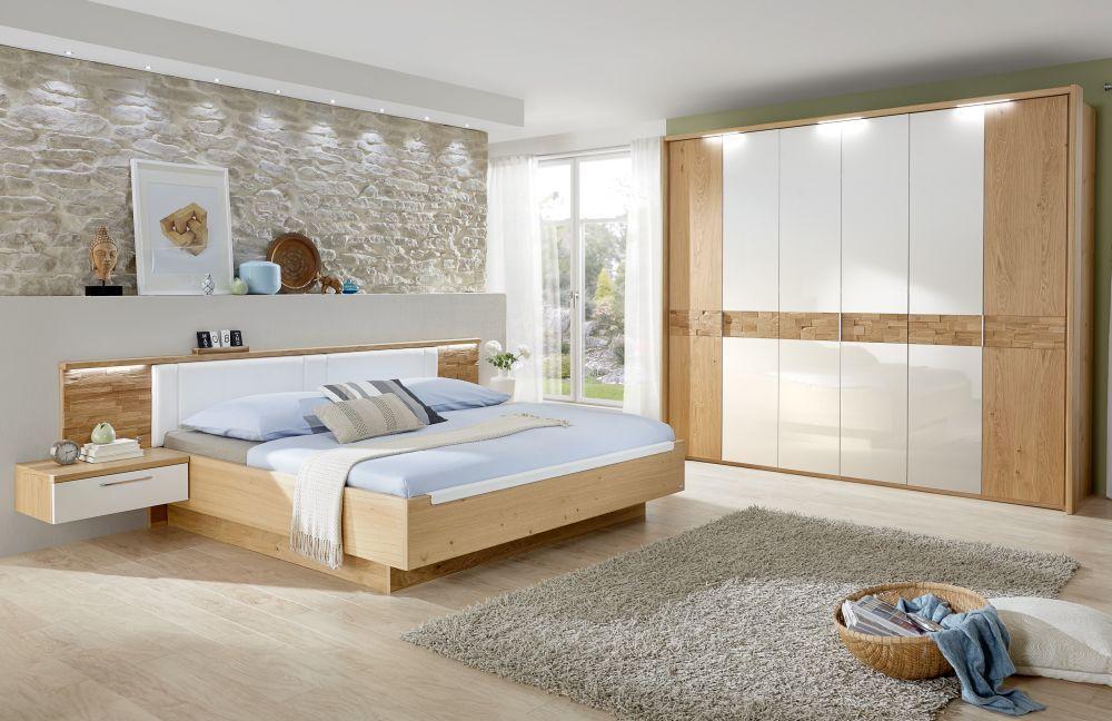 Schon ... Cesan Von Disselkamp   Schlafzimmer Weiß Hochglanz/ Wildeiche