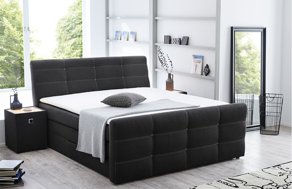 boxspringbett granada leia anthrazit von jockenh fer m bel letz ihr online shop. Black Bedroom Furniture Sets. Home Design Ideas