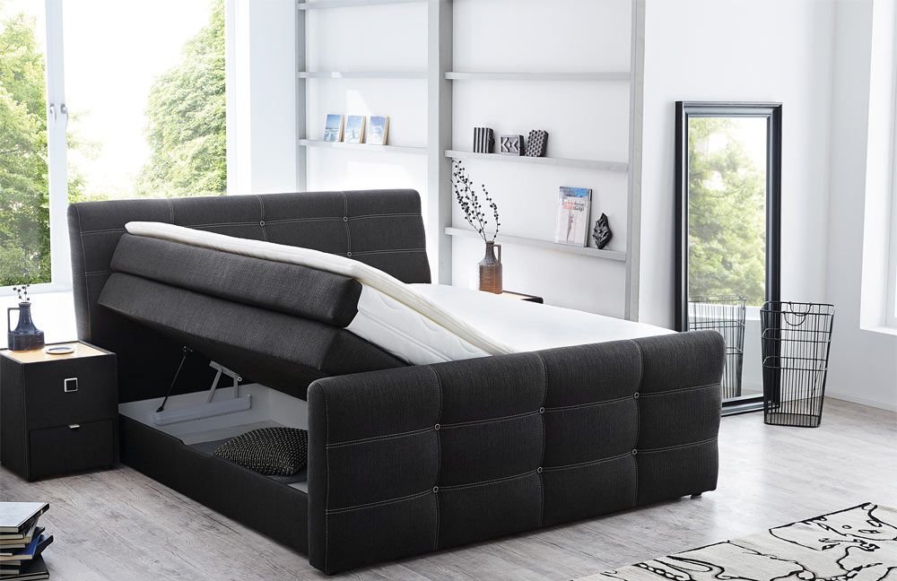 boxspringbett granada leia anthrazit von jockenh fer. Black Bedroom Furniture Sets. Home Design Ideas