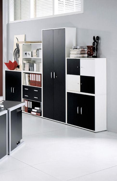 schreibtisch kombi black white von r hr bush m bel letz. Black Bedroom Furniture Sets. Home Design Ideas