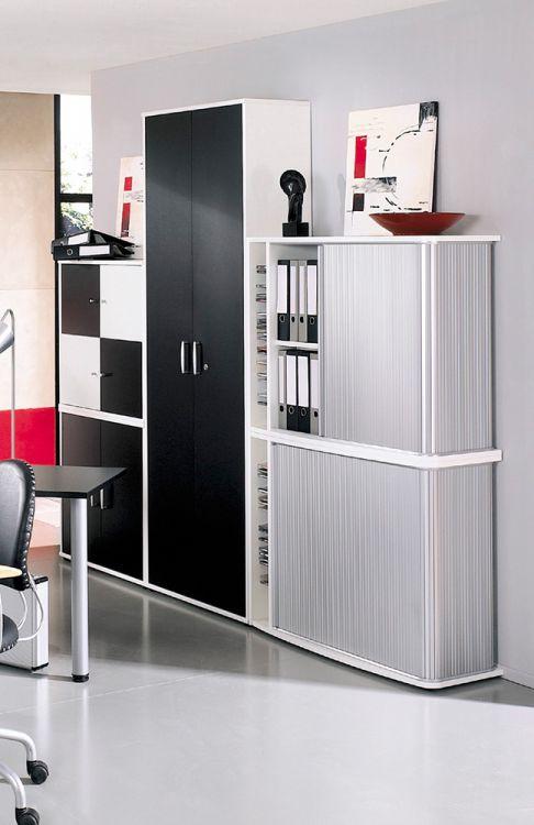 bogen schreibtisch kombination black white von r hr bush in schwarz m bel letz ihr online shop. Black Bedroom Furniture Sets. Home Design Ideas