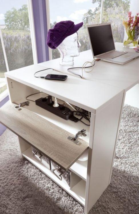 r hr bush wohnwand wei dakota eiche m bel letz ihr online shop. Black Bedroom Furniture Sets. Home Design Ideas