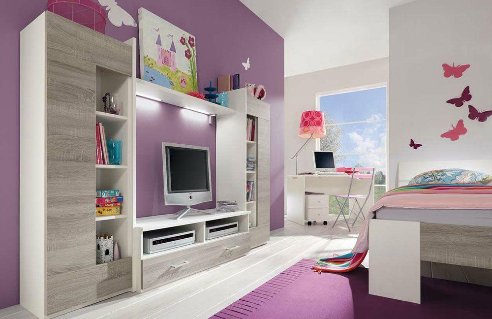 Jugendzimmer komplett günstig  Jugendzimmer mit Bett und Schrank - Vegas-Plus von Röhr-Bush ...