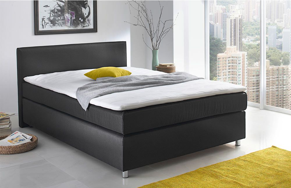 boxspringbett ascot callida von jockenh fer in schwarz. Black Bedroom Furniture Sets. Home Design Ideas
