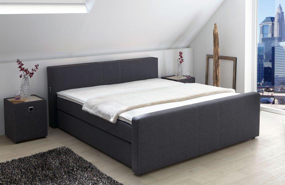 boxspringbett living helen von jockenh fer in anthrazit. Black Bedroom Furniture Sets. Home Design Ideas