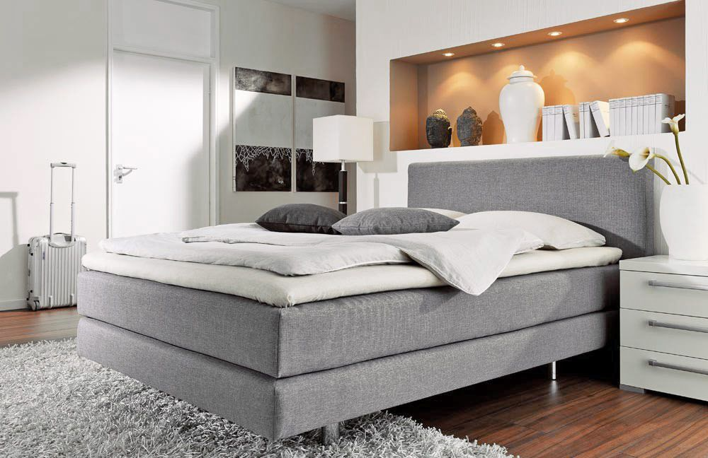 couture von femira boxspringbett in grau m bel letz. Black Bedroom Furniture Sets. Home Design Ideas