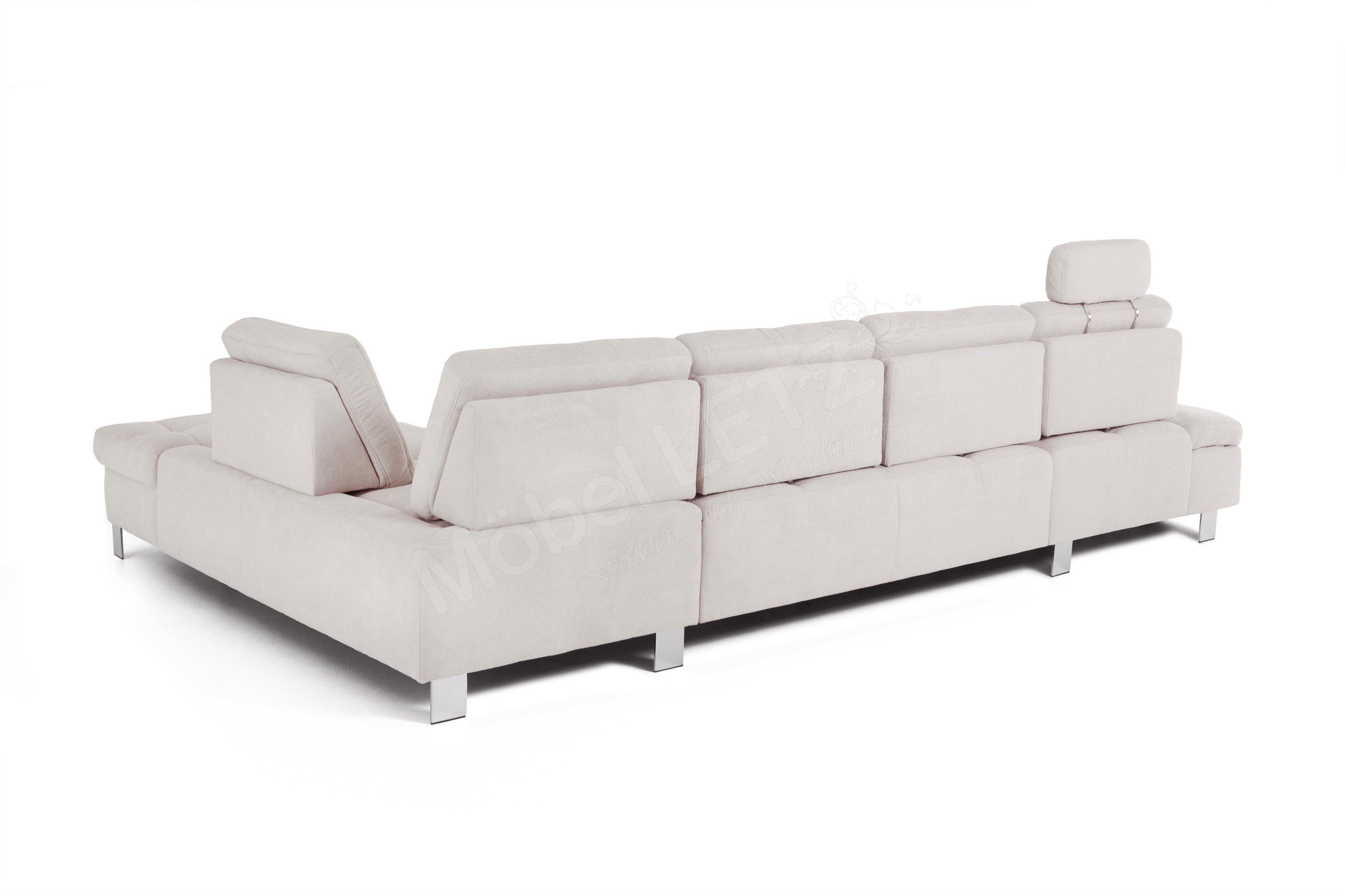 poco polsterm bel avellino wohnlandschaft in grau wei m bel letz ihr online shop. Black Bedroom Furniture Sets. Home Design Ideas