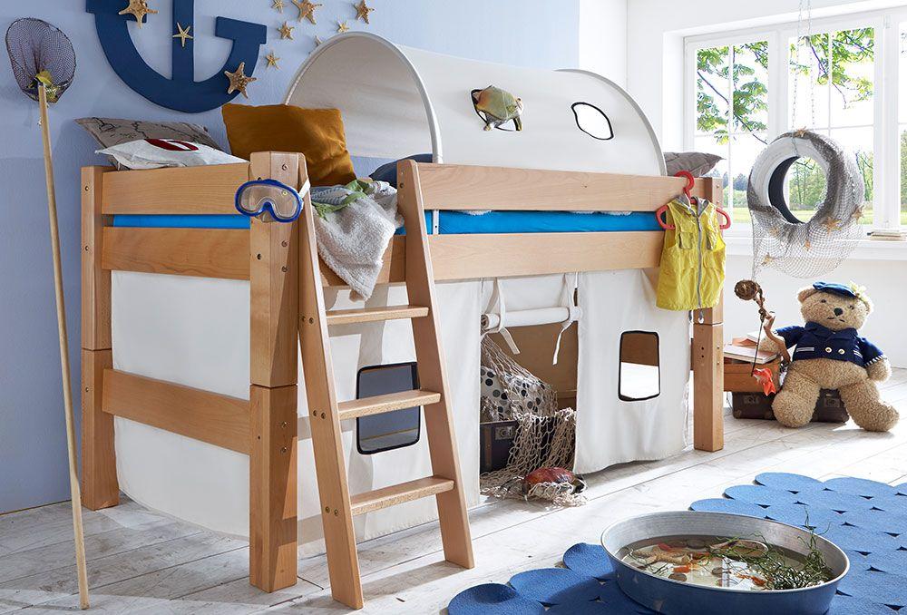 pure natur halbhochbett massiv buche m bel letz ihr online shop. Black Bedroom Furniture Sets. Home Design Ideas